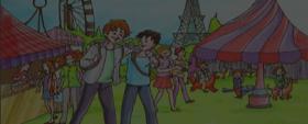 Une visite au parc d'attractions