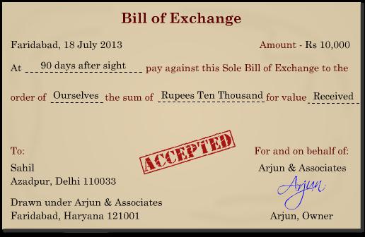 Bills of exchange studymaterial cbse class 11 commerce accountancy features of bills of exchange altavistaventures Images