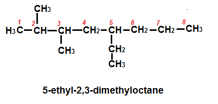 draw the structure of 5,ethyl-2,3-dimethyloctane - 6900020 ...