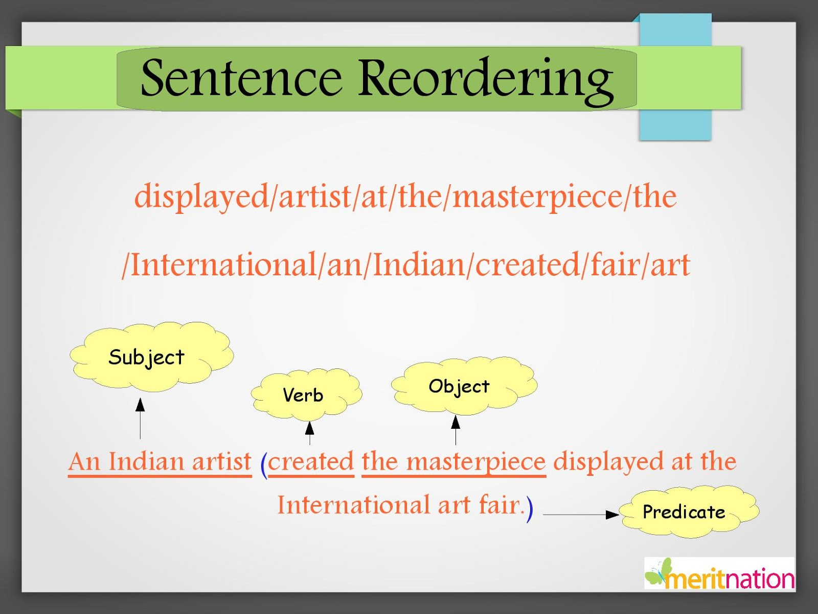 Jumbled Sentences, Studymaterial: CBSE Class 6 ENGLISH, Vocabulary