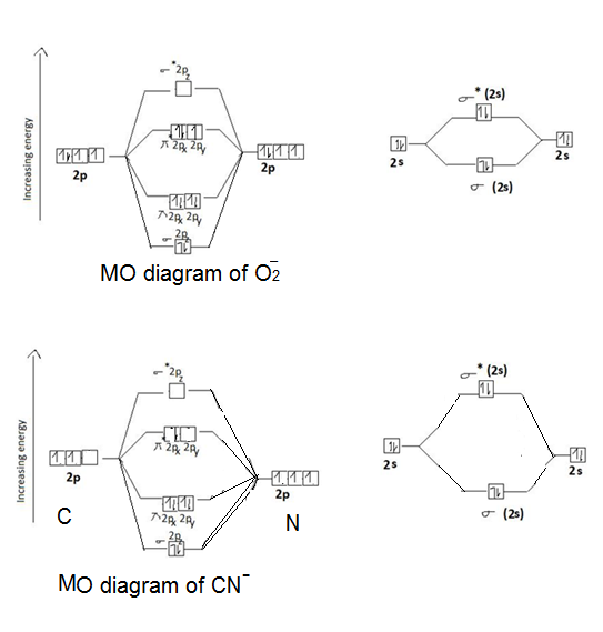 paramagnetic molecular orbital diagram which one of the following is paramagnetic and how do you ...