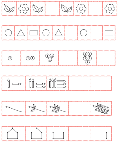 free ncert solutions for class 1 math chapter 10 patterns. Black Bedroom Furniture Sets. Home Design Ideas