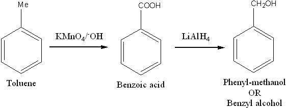 How do we convert toluene to benzyl alcoholthanks in ...
